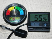 Hygrometers are humidity gauges that are useful for monitoing the humidity levels within your Green Anole enclosure